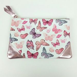 Ipsy {Metallic Pink Butterfly Makeup Bag}